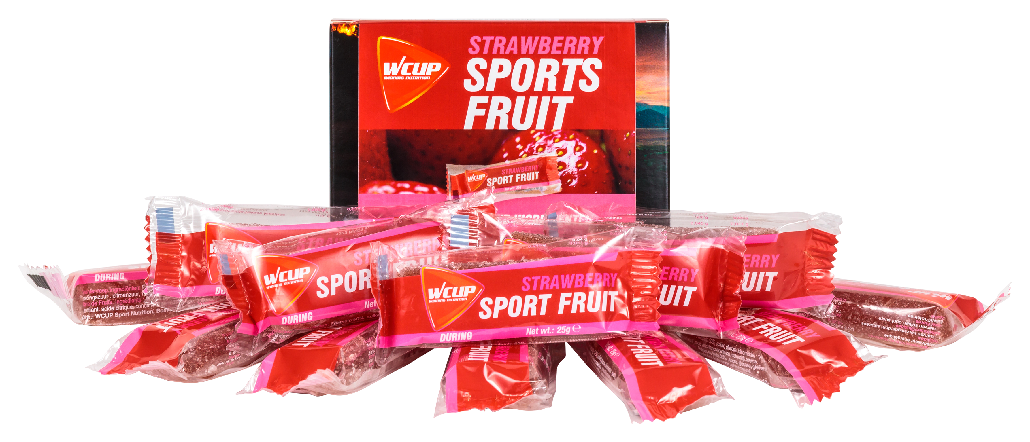 Sport Fruit Strawberry (10 stuks + 2 gratis)