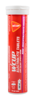 WCUP ELECTROLYTE TABLETS FRUITS ROUGES