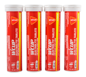 WCUP ELECTROLYTE TABLETS CITRON (4 pce)
